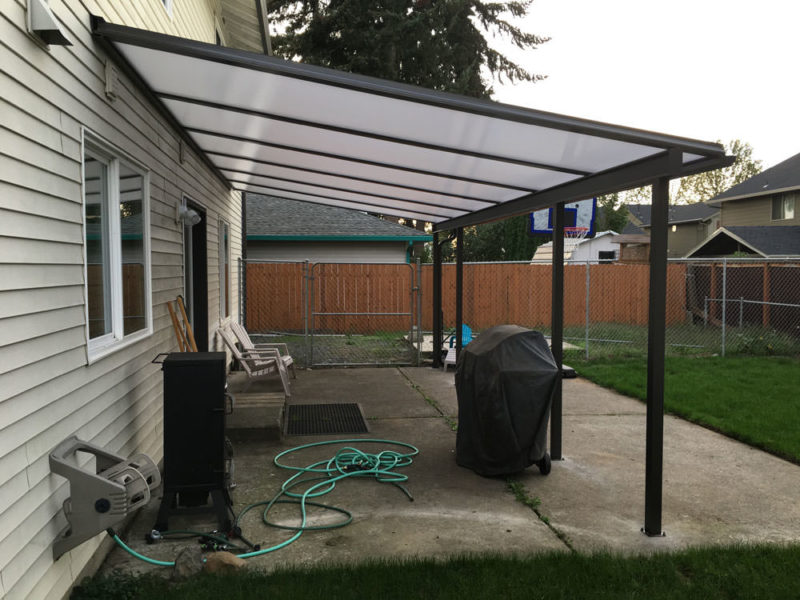 brown aluminum patio covers. Brown Aluminum Frame Patio Cover, 3 Covers