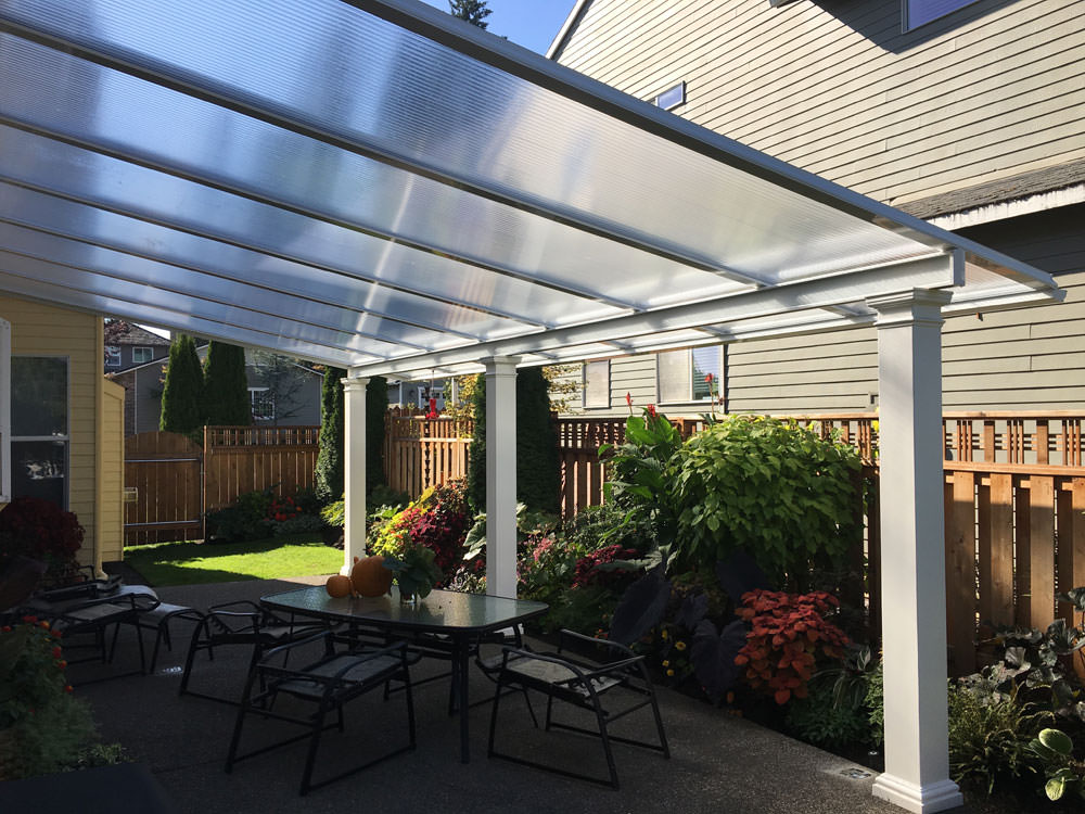 clear acrylic panes patio cover