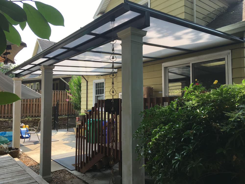 Beau Cool Blue Acrylic Panels Patio Cover People, LLC