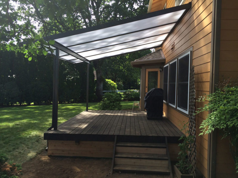 Cool Blue Acrylic Panes Patio Cover People Llc Serving