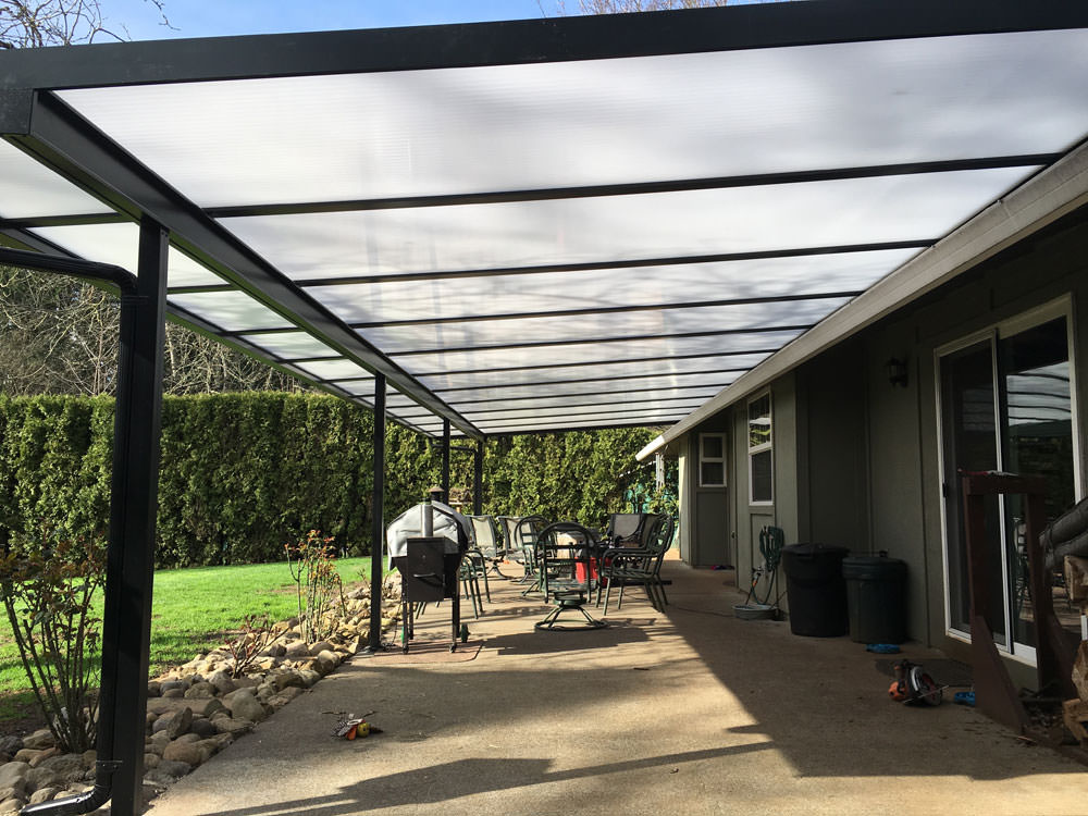 Beautiful Cool Blue Acrylic Panels Patio Cover People, LLC