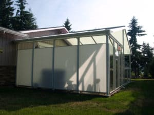 Patio Cover with Privacy Walls