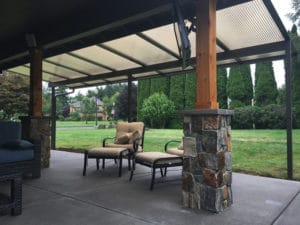 Patio Cover with Custom Columns