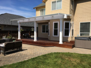 Patio Cover with White Columns