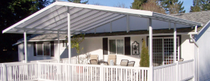 Outdoor covered area built and erected by Patio Cover People serving Portland OR Vancouver WA